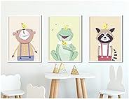 3er-Set Kinderzimmer Poster WALDTIERE (Variante 2) in DIN A4 - Kinderzimmerbilder von fabeltal, ungerahmt
