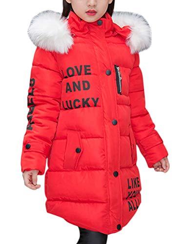 ShallGood Bambine E Ragazze Piumino Invernale Cappotto Lungo con Cappuccio  di Pelliccia Ecologica Giacca Giubbotto Cappotti 1669dc12e2a