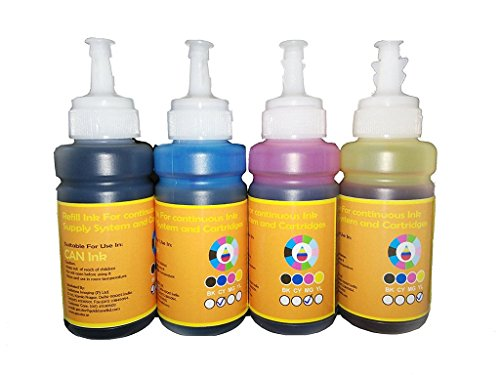 GoColor Premium Canon Compatible Inkjet Refill Ink 70 Ml X 4 Color K/C/M/Y With Syringe And Needles For Refilling Cartridge & Ciss For Accurate Printing.  available at amazon for Rs.445