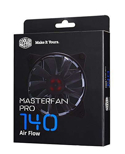 """Price comparison product image Cooler Master MasterFan Pro 140 AF AirFlow Fan """"MFY–F4NN–08NMK–R1, PWM, 140mm, 35.0 CFM, 650/1600 RPM, 3 x Switch settings (Silent, Quiet, Performance)"""""""