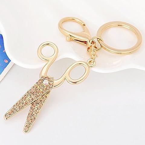 Coche coreano key ring Estrás Mono pequeñas tijeras moda exquisita y versátil bolso colgante