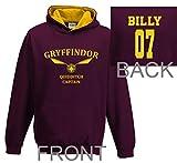 Personalised Kids harry potter hoodie gryffindor