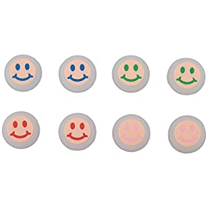 9CDeer 8 Stück Silikon Daumen Griffe Aufsätze Thumb Grip Thumbstick Joystick Analog Sticks Schutzkappe Cover Smiley-Gesicht Style für PS4, Xbox One, Switch PRO Controller ETC. Noctilucous klar