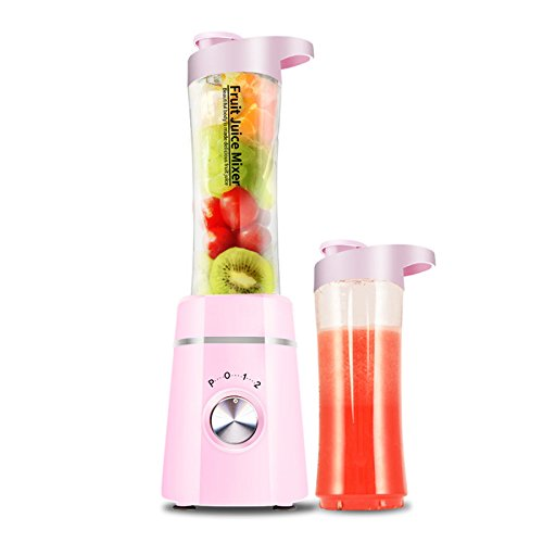 Mixer Portable Mixer Juicer Cup Personal Juicer Mixer Mixer High-Speed-Lebensmittel-Extractor Entsafter Smoothies Maker Juice Flasche Fruit Smoothie Babynahrung Mischmaschine Mit Leistungsstarken Motor,Pink