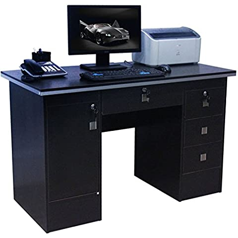 Computer Desk in Black With 3 Locks 4 Home Office/Office Furniture 617/000
