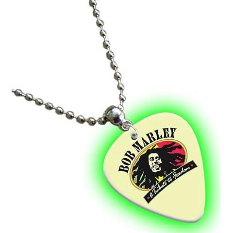Bob Marley bagliore nel buio Premium Chitarra plektron Collana Necklace