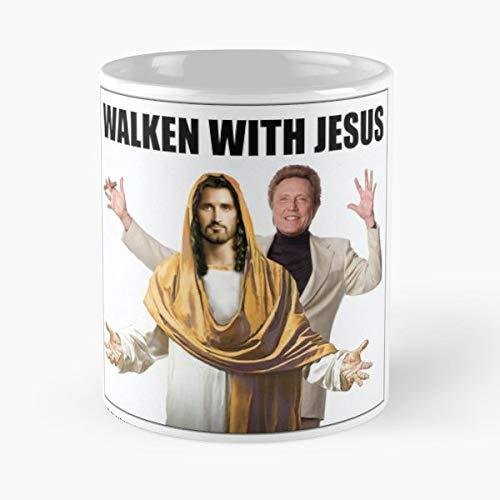 Walken With Jesus Walking - Coffee Mug Tea Cup Gift 11oz Mugs The Best Holidays.