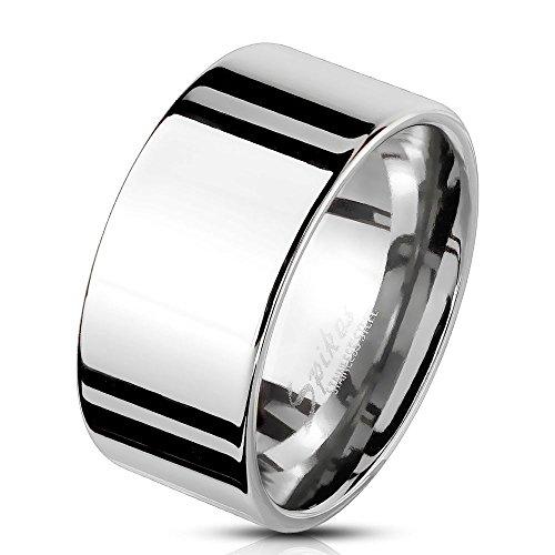 Bungsa 57 (18.1) Herren-Ring BREIT Silber Edelstahl massiv breiter Band-Ring breite Ringe Männer - Band-ringe Breites Silber