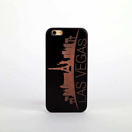 New Creative Wooden & PC hard case for Apple iPhone 7PLUS STATUE OF LIBERTY LAS VEGAS