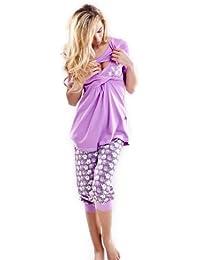 DN Nightwear - Traje de dormir para mujer (para tiempo de lactancia)