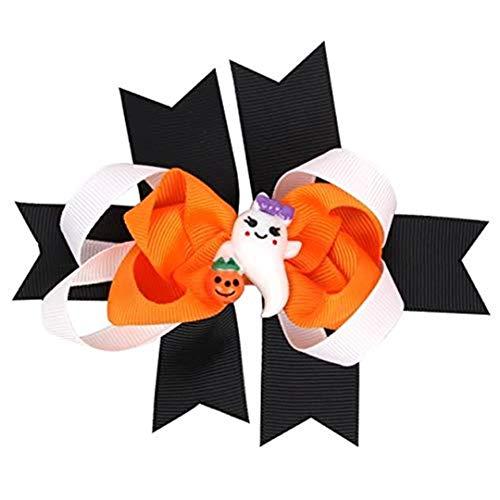 UJUNAOR Baby Mädchen Halloween Bowknot Haarnadel Kopfschmuck(Schwarz,12 * 9cm/4.7 * 3.5