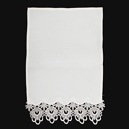 Textiles Universels Protège Dossier pour Chaise ou canapé à Motif crocheté (Taille Unique) (Crème)
