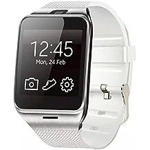 Smart Watch / Orologio Intelligente Clode® GV18 Bluetooth Intelligente Orologio Telefono GSM Della Macchina Fotografica NFC Orologio da Polso Impermeabile per Samsung iPhone (Colour : Bianca)