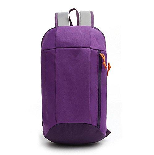 Xiuxiandianju 15L pieghevole portatile borsa studente del sport ricreativo all'aperto fresco piccolo backpacking , grinding los elder brother blue Purple