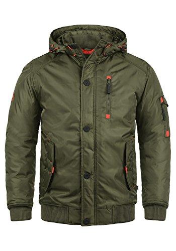 !Solid Bettino Herren Übergangsjacke Herrenjacke Jacke mit Kapuze, Größe:L, Farbe:Ivy Green (3797)