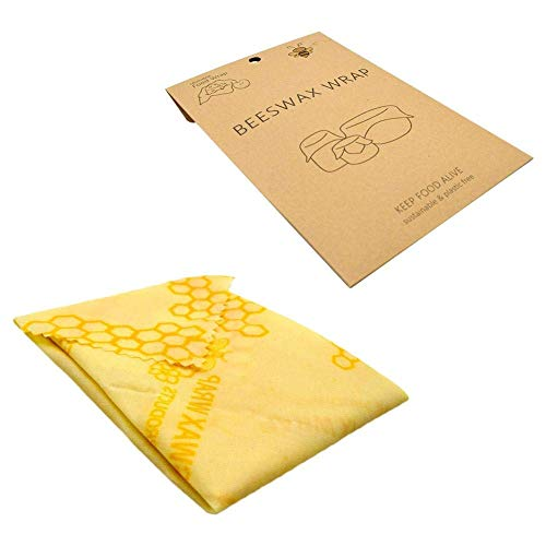 CLEAR-S Reusable Beeswax Wrap Organic Eco Bees Wax Food Wraps DIY Cling Cloths Natural Storage Wrappers Recycled Security Protection Safety Keeps Fresh Grade Cloth Fruit Bag