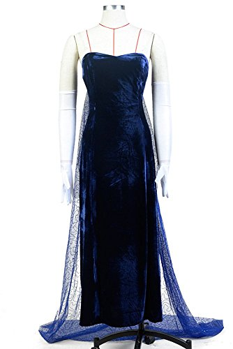 Anastasia (1997 film) Romanov Evening Dress Blau Cosplay Kostüm Damen (Halloween Kostüme Erwachsene Barbie)