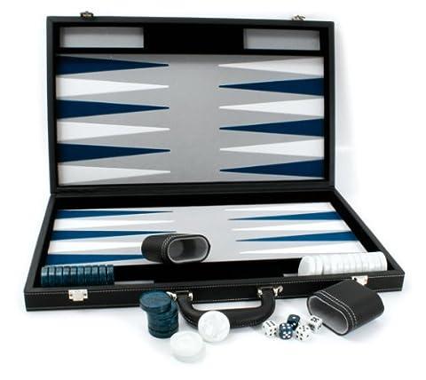 Smir - 529420 - Echecs - Backgammon façon cuir noir intérieur