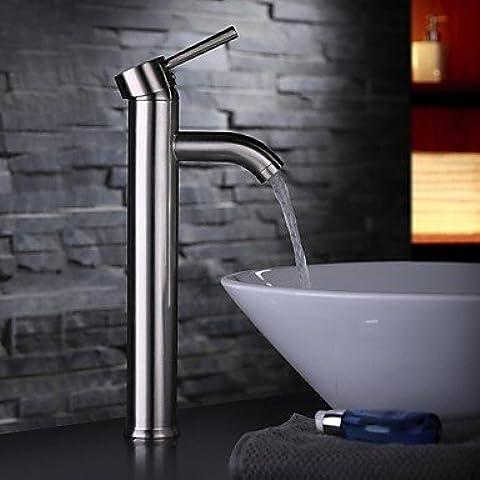 Piteng™ Contemporary nichel spazzolato Un foro singola maniglia rubinetto lavandino
