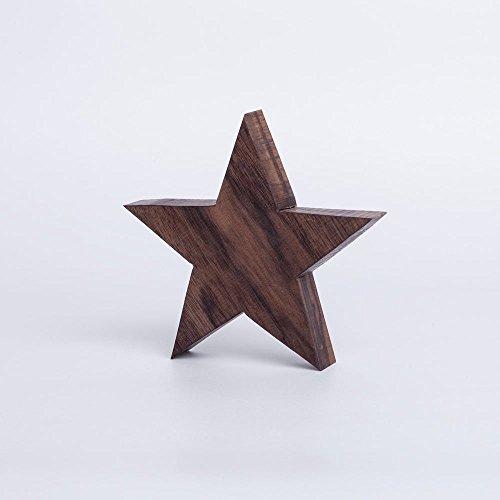 Holzstern aus Nussholz | handgefertigt in Bayern | verschiedene Größen zur Auswahl | Deko Stern aus Holz
