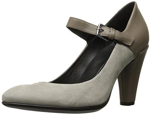 Ecco Women's Women's Shape 75 Round Mary Jane Dress Pump, Warm Grey/Stone, 38 EU / 7-7.5 US