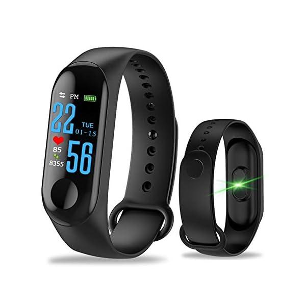 GULEHAY M3 Smart Fitness Tracker, Reloj de Actividad Impermeable con Pantalla a Color Monitor de Ritmo cardíaco Presión… 1