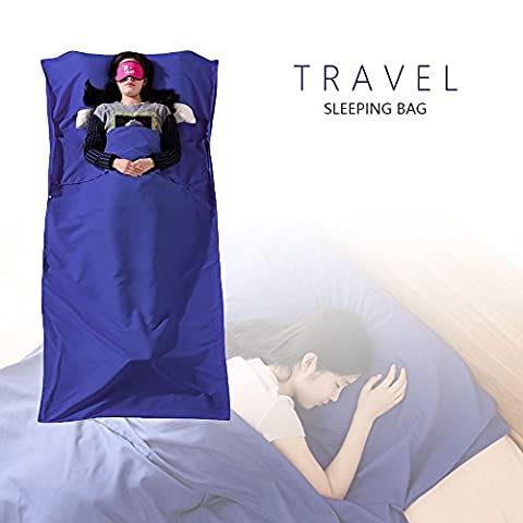 Sleeping Bag Liner, Chenci Durable and Soft Travel Sheet Sleeping Bag Liner Microfibre, Ideal for Travel, Youth Hostels, Picnic, Camping, Hiking