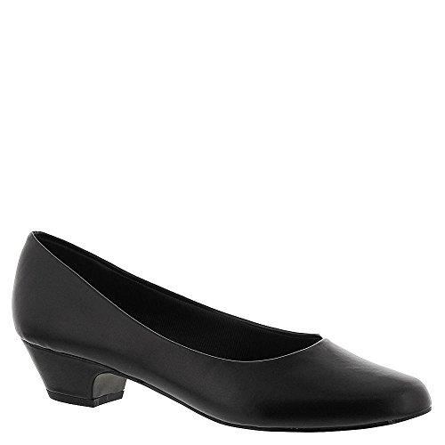 Rua Fácil De Halo Sapatos De Couro De Imitação Oblato Estilete Preto