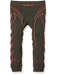 Hummel Pantalón Interior Técnico 3/4 Hero Baselayer Negro / Coral 10-12 años (140-152 cm)