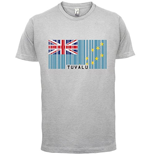 Tuvalu Barcode Flagge - Herren T-Shirt - 13 Farben Hellgrau