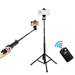 Arespark Selfie Stick/Stativbeine mit UNC1/4 Internationale Gemeinsame Schnittstellemit für camera,und mit Bluetooth Fernbedienung für Smartphones