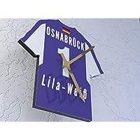 FanPlastic 3. Liga Deutschland FUßBALL Shirt Uhren - 3. Liga Fußball, JEDER Name & Jede Nummer Acryl Shirt Design !!!