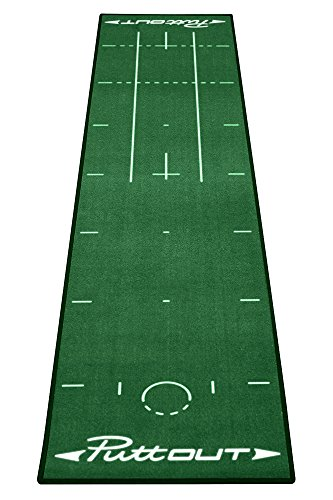 PuttOut Unisex Pro Golf Putting Mat, Green, 240 x 50 cm