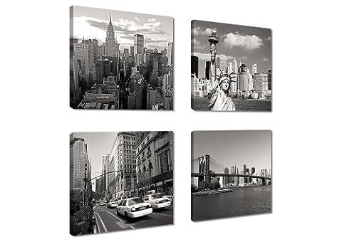 Image sur toile New York 4x20 x 20 cm Modèle