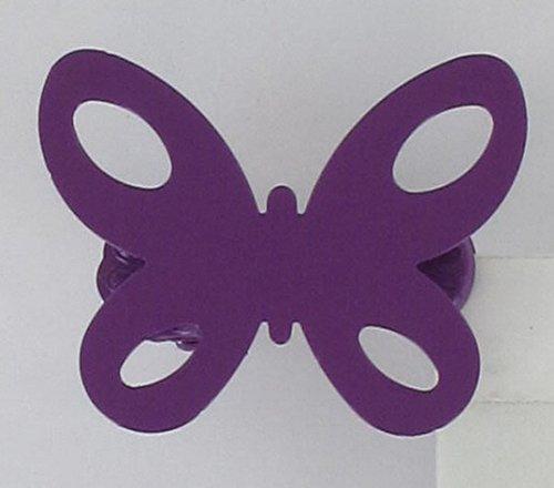 Pinces à voilages et rideaux métal, Embrasse aimantée, Embrasse métal souple, modèle et coloris au choix (Petites pinces Papillon (x2) Violet pour voilages et rideaux 3001083)