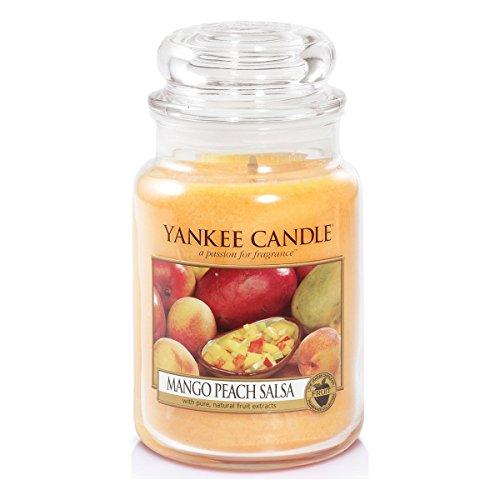 Yankee Candle Glaskerze, groß, Mango Peach Salsa -
