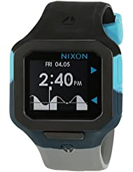 Nixon Unisex-Armbanduhr Supertide Black / Seafoam / Gray Digital Quarz Silikon A3161942-00