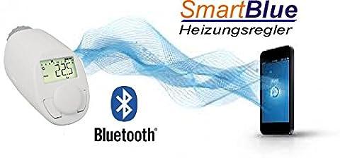 SmartBlue Heizköperthermostat Bluetooth, Programmierung über Smartphone oder Tablet