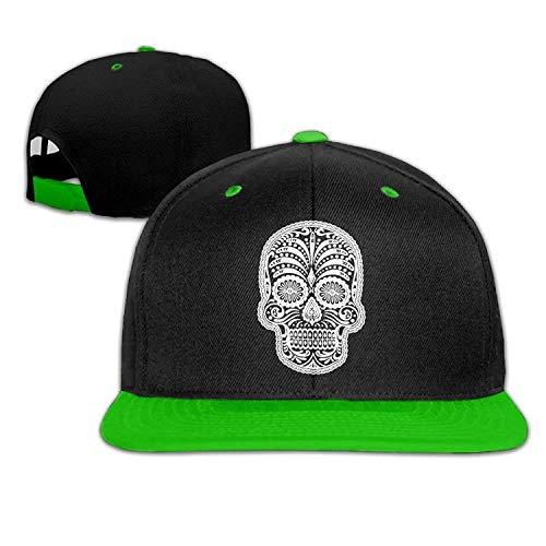 Aeykis Men Women Sugar Skull Hip Hop Baseball Caps Snapback Hats V003303