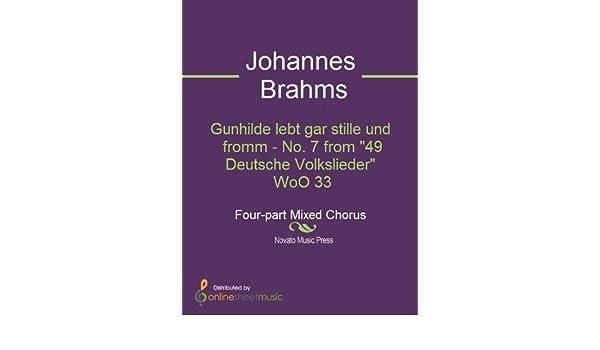 Gunhilde lebt gar stille und fromm - No. 7 from 49 Deutsche Volkslieder  WoO 33