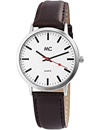 MC Timetrend Germany Bahnhof - Reloj de Pulsera analógico para Mujer, Correa de Piel,