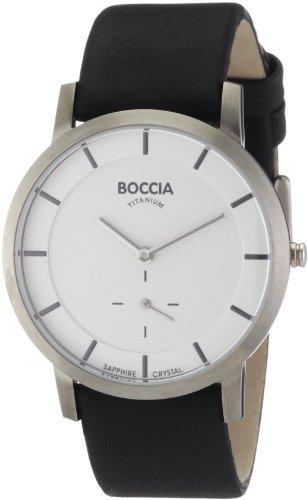 Boccia - 3540-03 - Montre Homme - Quartz Analogique - Bracelet Cuir Noir