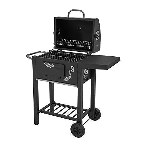 elevenfurniture Barbecue Grill BBQ Charcoal grill garden portable 115x65x107cm