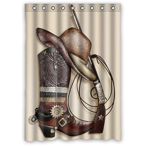 Custom Cowboy Boots Hat Gun Window Curtains/drape/panels/treatment Polyester Fabric Bedroom Decor 52