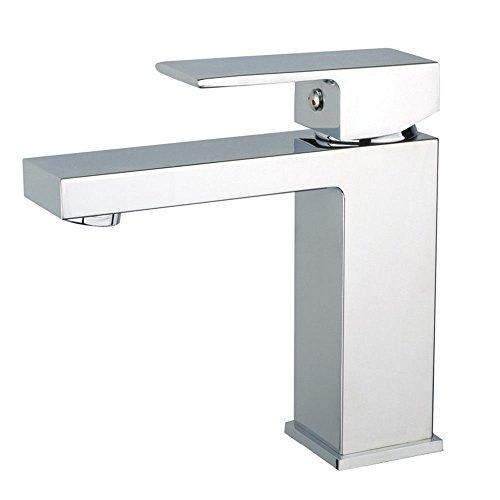 YSRBath Moderne Waschbecken Waschtischarmatur Antike All-Copper Quad Einloch Heiß und Kalt Mischbatterie Bad Küche Wasserhahn Badarmatur