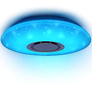 HOREVO 36W Sternenhimmel Deckenleuchte LED mit Fernbedienung Dimmbar Farbwechsel, Bluetooth Lautsprecher Musik Deckenlampe, für Kinderzimmer Schlafzimmer Kinder Geschenk (CE-zertifiziert)