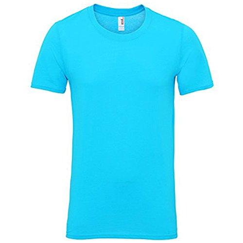 Anvil Herren Modern T-Shirt Karibikblau