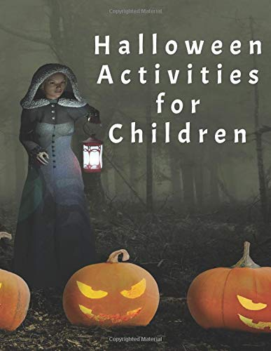 Halloween Activities for Children: Handwriting Practice, Colouring and Drawing
