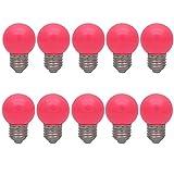 10X E27 Ampoules Couleur 1W Ampoule de Rose Faible Consommation 70-100LM Couleur à LED 220V-240V