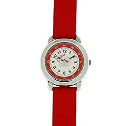 Chipie Mädchen-Armbanduhr Analog Leder rosa 5207602